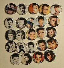 "Wholesale Collectable Set (24) 1.25"" Pinback Button Badge Elvis Presley 1¼"" Pins"