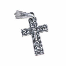Holy sepulchre church blessed cross pendant from Jerusalem, Sterling silver 925