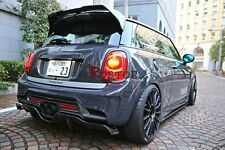 CARBON WITH FRP  DUELL AG STYLE REAR ROOF SPOILER WING FOR MINI  F56 COOPER S