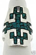 Signed Mexican Sterling Silver & Inlaid Turquoise Ring - Ballestros Goodspeed VR