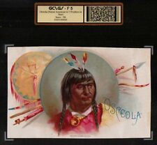 Florida State 1880's Chief Osceola Cigar Box Advertising Indian  FSU Seminoles