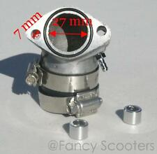 High Performance GY6 Engine Carburetor Intake with Bracket (air filter 32-44mm)