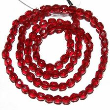 """CZ2137f Garnet Red 4mm Fire-Polished Faceted Round Czech Glass Beads 16"""""""
