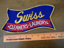 VINTAGE SWISS CLEANERS LAUNDRY  ELLINGTON CONNECTICUT   1960'S  XL PATC