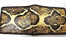 Real Boa red tail Snake Skin python Handmade laced wallet with removable ID case