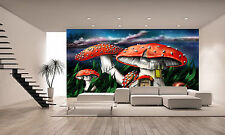 Magic Mushrooms Wall Mural Photo Wallpaper GIANT DECOR Paper Poster Free Paste
