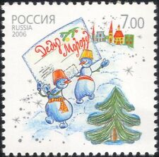 Russia 2006 New Year/Greetings/Ded Moroz/Christmas/Tree/Snowmen 1v (n45131)