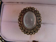 ANTIQUE ART DECO STERLING MOONSTONE SIZE 6 LADIES RING