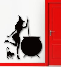 Wall Stickers Vinyl Decal Halloween Witch Cauldron Potion Kids Room (ig717)