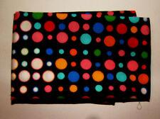 1 METRO Cotone Poplin Con Macchie multicolore su sfondo nero