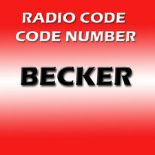 BECKER  AM FM RADIO CD STEREO DECODE CODE KEY UNLOCK SERVICE