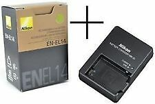 for NIKON EN-EL14 LI-ON BATTERY AND MH-24 CHARGER FOR D-3100, D-5100, P-710