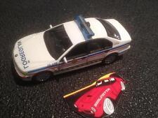IN POLICE MODIFIED CAR: LÖGREGLAN BMW SERIE 5 1/43 SCALE MODELCAR