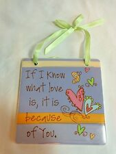 Inspirational Love Plaque Sign Purple If I Know What Love Is Ceramic Encore