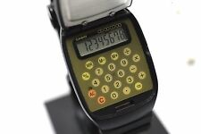 Vintage - Casio FTP-10 Analog Flip Top Calculator Module 760 Analog Wrist Watch