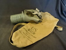 Old Vtg EMPTY Military WWII US Civil Defense Non-Combatant Gas Mask & Carry Bag