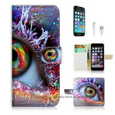 iPhone 7 (4.7') Flip Wallet Case Cover P0385 Charm Eye
