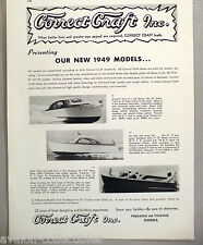 Correct Craft Cruiser, Runabout, Fisherman Boat PRINT AD - 1948 ~ 1949 models