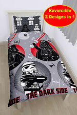 COTTON BLEND MATERIAL Lego Star Wars Villains Boys Single Duvet Quilt Cover Set