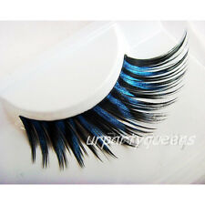 Dark Blue Black Thick False Eyelashes Eye Lashes Halloween Party Dress Makeup