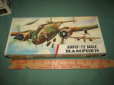 Vintage Airplane Airfix kit Model 1/72 SCALE Hampden, made in England Decals