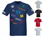 50th BIRTHDAY STANDARD CUT T-SHIRT S to 5XL **INDIVIDUAL DESIGNS** 50 years old