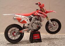 1:12 13 HONDA HRC FACTORY CRF450R CRF450 SUPERMOTO CHAMP MODEL SYLVAIN BIDART #1