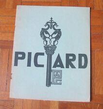 Catalogue PICARD de 1951/Serrurerie de bâtiment/Serrurerie à cylindre