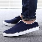 Men's Canvas Shoes Slip On Casual Low Top Pump Plimsolls Sneakers Skate Lounger