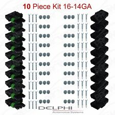 Delphi Weather Pack 3 Pin Sealed Connector Kit 16-14 GA !!!10 COMPLETE KITS!!