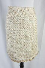 Carlucci Skirt size 16 Gold Fringe Slim Tweed Suit