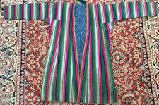 ANTIQUE UZBEK VINTAGE NATIONAL SILK ROBE BEKASAM CHAPAN 1100