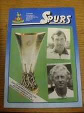 19/10/1983 Tottenham Hotspur v Feyenoord [UEFA Cup] (folded). Unless previously