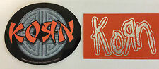 KORN 2-Pack of Stickers Asian Logo/Silver Logo NEW OFFICIAL MERCHANDISE Rare