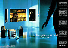 PUBLICITE ADVERTISING 056  1994  Sony   la mini chaine  hi-fi Scala ( 2p)