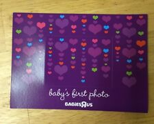 NEW Babies R Us Purple Hearts Magnet Picture Frame Baby's First Photo Newborn