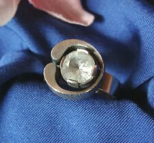 Sten & Laine Finnland Ring 925 er Silber Bergkristall Skandinavien 1976 / X 634