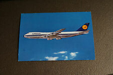Old Vintage Postcard Lufthansa Boeing Jet 747 Airlines Aviation Airplane RPPC