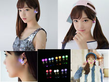 9 Pairs(Colors) LED Light Up Cubic Studs Earrings Xmas Birthday Party Decoration