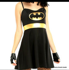 BATMAN NEW Womens PLUS 2XL 2X XXL DRESS Cosplay Halloween COSTUME Black Gold NWT