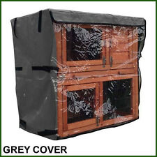 RHM Double Tier Rain Cover For Rabbit Hutch Run Covers Pet Hutches Ferret Cages