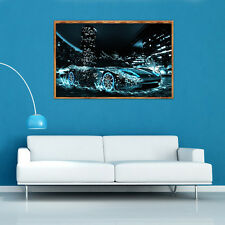 COOL DIY 5D Diamond Painting Speed Car Embroidery Cross Stitch Home Decor Craft