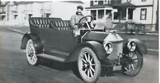 Louis Chevrolet Old Photograph Snap Shot Driving Car with Starting Handle
