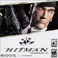 Hitman: Codename 47 Jewel Case (PC, 2003) COMPLETE eidos hit man assassin sneak