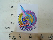 STICKER,DECAL ZANDVOORT SURFING PRO WORLD CUP 16  T/M 25 OKT 1987 PALL MALL EXPO