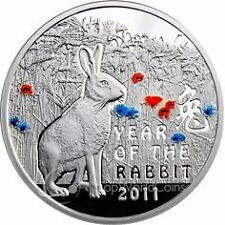 1$ Year of the Rabbit Proof Silver Coin Niue 2010 - 2011