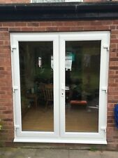 UPVC FRENCH DOORS PATIO DOORS NEW MADE TO MEASURE FROM £320. 1300 x 2100