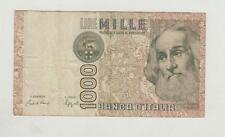 ITALY rare note 1000 LIRE MILLE same note in scan