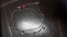SILPADA Silver Purple Quartz Amethyst Agate Long Bead BLUSH WINE Necklace N2348