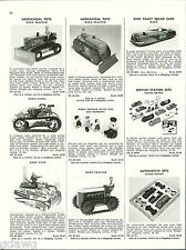 1956 ADVERT Marx Toy Tractor Tank Solar Scout Dick Tracy Squad Car Tootsietoy